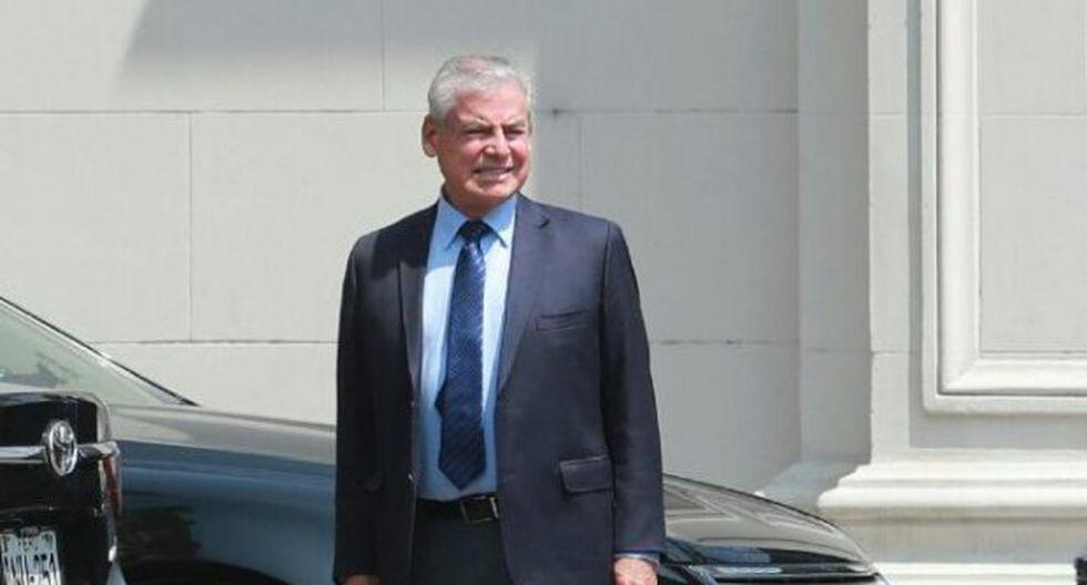 El congresista de APP, César Villanueva, visitó el último lunes al presidente Martín Vizcarra en Palacio de Gobierno. (Foto: Lino Chipana / El Comercio)