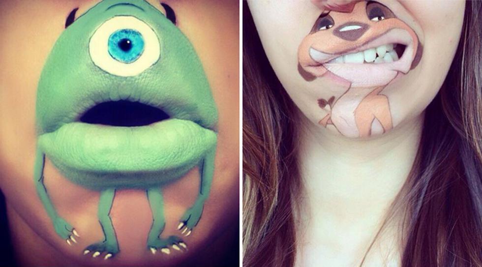 Los labios de esta maquilladora dan vida a populares personajes - 1