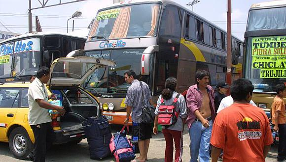 El 77% del transporte interprovincial es informal