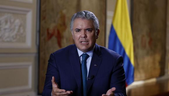 """El presidente de Colombia, Iván Duque, pidió este miércoles a los gobiernos de Iberoamérica que actúen para poner fin a la """"dictadura"""" de Nicolás Maduro en Venezuela. (EFE/ Mauricio Dueñas Castañeda)."""