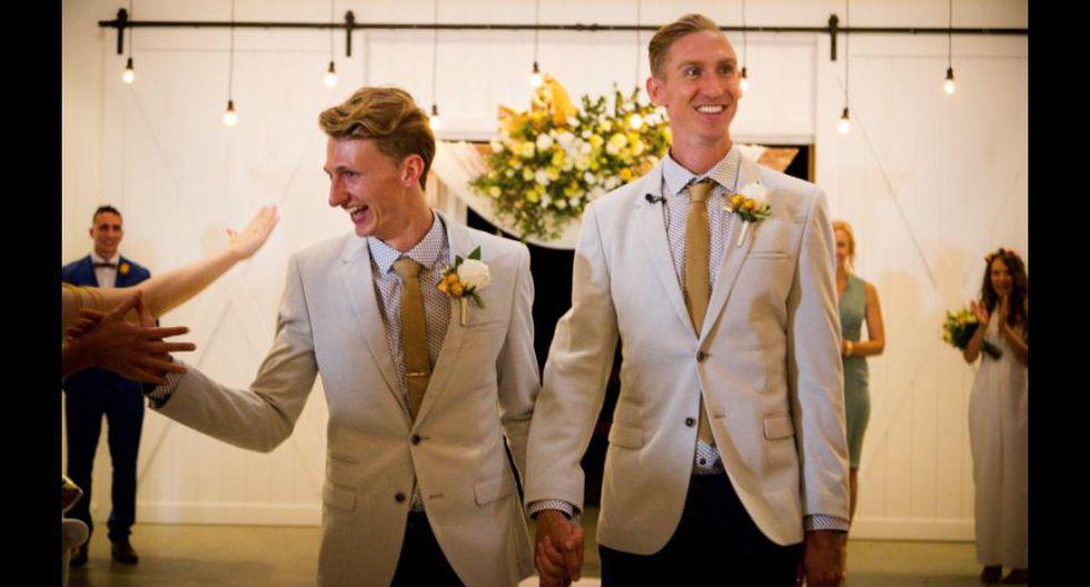 Australia aprobó el matrimonio gay en diciembre, una medida que entra en vigencia desde el 9 de enero de este año, misma fecha en la que un velocista y su novio atleta se casaron y se convirtieron legalmente en el primer matrimonio homosexual del país. (Foto: AFP)