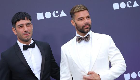 Ricky Martin y Jwan Yosef posan por primera vez con sus cuatro hijos. (Foto: AFP)