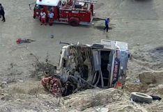 Piura: seis hinchas del Barcelona SC muertos y al menos 37 heridos tras despiste de bus | VIDEO Y FOTOS