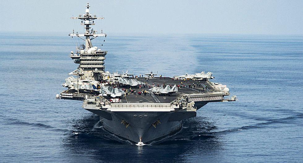 Se estrelló caza de portaaviones que EE.UU. mandó a Norcorea