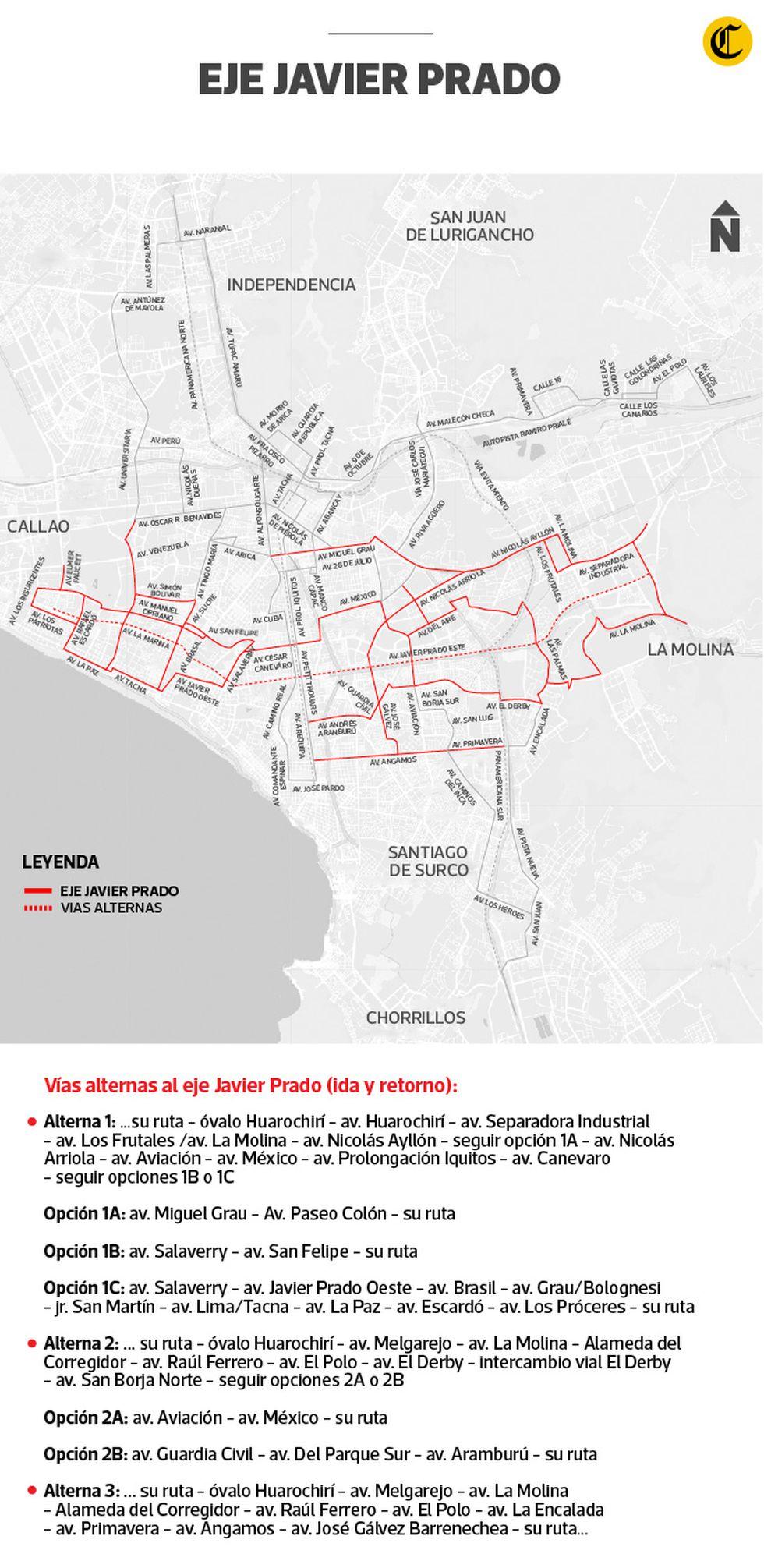 Conoce las rutas alternas a las vías donde se aplica la restricción vehicular llamada 'pico y placa'.