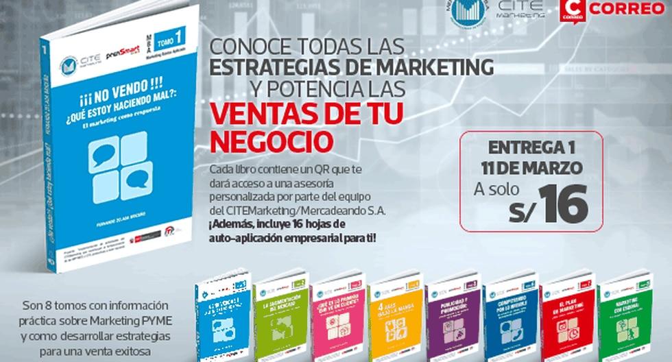 Correo te trae esta exclusiva colección elaborado por Fernando Zelada Briceño y su equipo de CITEMarketing/Mercadeando S.A., el primer Centro de Innovación Productiva y Transferencia Tecnológica en Marketing del Perú.