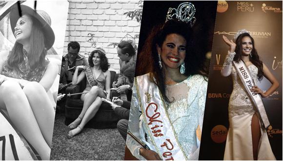 Madeleine Hartog, Olga Zumarán, Karina Calmet y Romina Lozano, entre las Miss Perú. (Fotos: Archivo El Comercio)