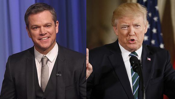"""Matt Damon pidió dejar la """"motivación moral"""" y dar atención a los """"argumentos prácticos para invertir en la distribución de agua"""". (Fotos. AFP / Reuters)"""