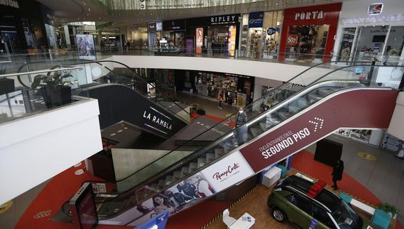Crecen los aforos en centros comerciales. (Foto: Francisco Neyra | GEC)