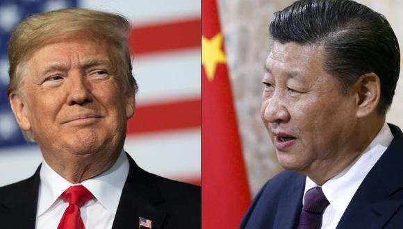 Una imagen combinada del presidente de Estados Unidos, Donlad Trump, y de su homólogo de China Xi Jinping. Estados Unidos ordenó el cierre del consulado chino en Houston. (Foto: Jim WATSON y PETER KLAUNZER / AFP).