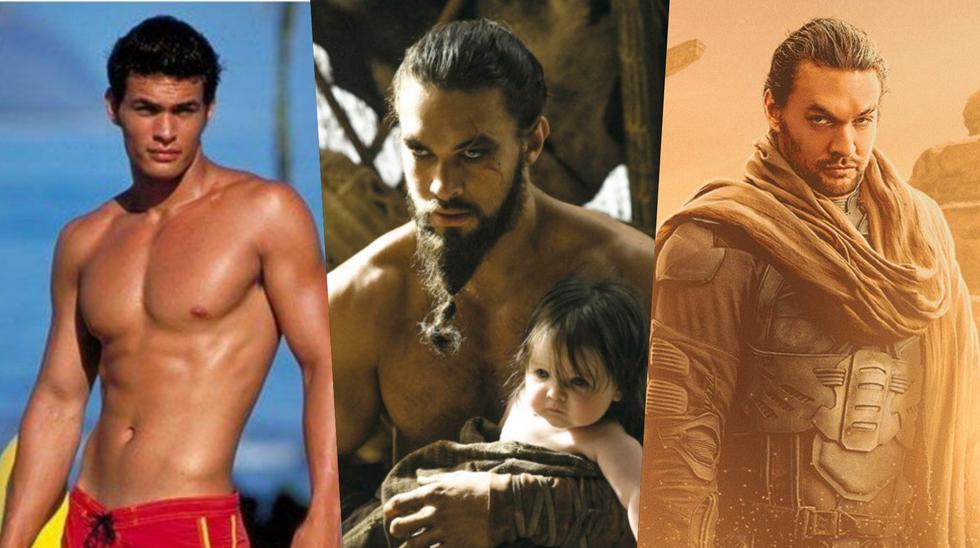 """El actor hawaiano cumple 42 años este domingo 1 de agosto. Desde sus inicios en Hollywood logró cautivar al mundo con su trabajo. en la imagen, de izquierda a derecha, algunos roles icónicos en las series """"Baywatch"""" (1999), """"Game of Thrones"""" (2011) y la cinta de próximo estreno """"Dune"""" (2021). (Fotos: NBC/ HBO/ Warner Bros.)"""