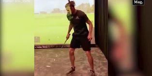 Gareth Bale sorprende al dominar una pelota con el pie y un palo
