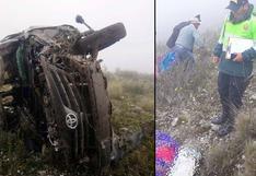 Huancavelica: tres personas murieron tras volcadura de una camioneta