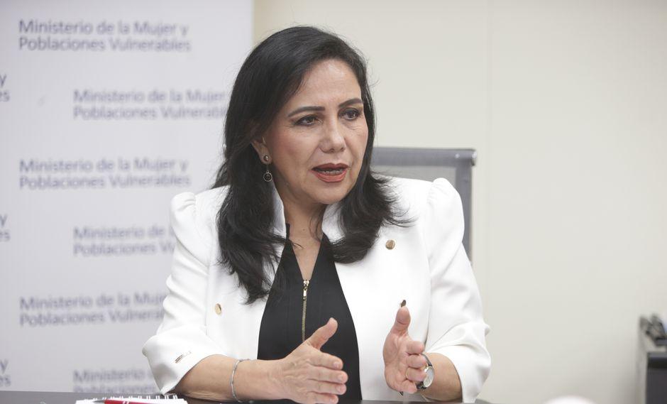 Gloria Montenegro, ministra de la Mujer y Poblaciones Vulnerables, aseguró que el gabinete permanece unido con el presidente Martín Vizcarra. (Foto: GEC)