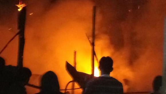 Un adolescente de 12 años se salvó de morir, pero resultó con quemaduras graves según informaron las autoridades. (Foto: Agenda Sechurana)