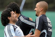 """Verón y la sentida despedida a Maradona: """"No importa qué pasó. Solamente hoy decirte gracias"""""""