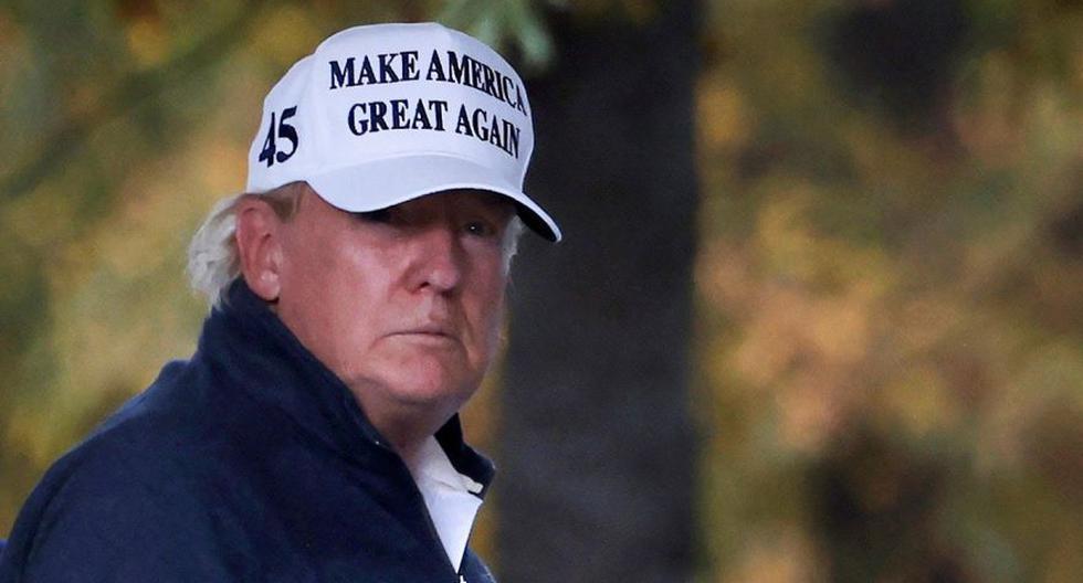 Tras el anuncio de Joe Biden como ganador de la presidencia de Estados Unidos, Donald Trump se dirigió a su club de golf en Sterling, Virginia. (Foto: Reuters / Carlos Barria)