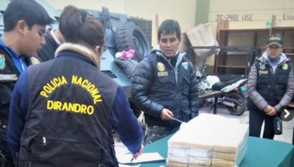 Decomisan 31 kg de clorhidrato de cocaína en vía Cusco-Puno
