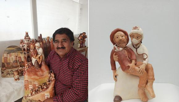 A sus 56 años, Leonidas Orellana Castro es un artesano ayacuchano que no deja de reinventarse.(Foto: Wari Runa)