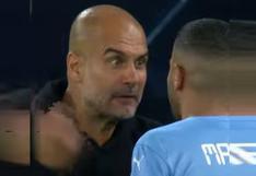 Más efusivo que nunca: el regaño de Guardiola a Mahrez y Grealish ante Leipzig | VIDEO