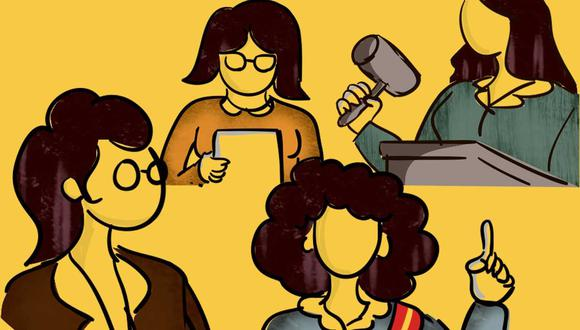 Mujeres en cargos públicos. (Ilustración: El Comercio)