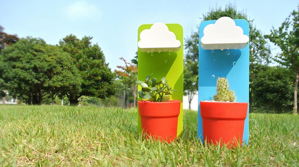 Rainy pot: El objeto que te ayudará a regar tus plantas - 1