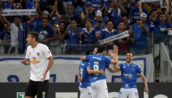 Deportivo Lara vs. Cruzeiro se enfrentaron en el partido pendiente de la fecha 2 del grupo B de la Copa Libertadores. El equipo brasileño se llevó la victoria por 2-0. (Foto: AFP).