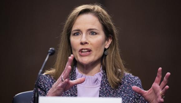 Este lunes, el Senado de Estados Unidos votará sobre la nominación de la jueza  Amy Coney Barrett para la Corte Suprema. (MICHAEL REYNOLDS / POOL / AFP).