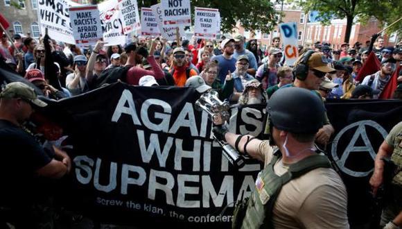 Virginia declara estado de emergencia por violenta protesta de supremacistas blancos. (Reuters)