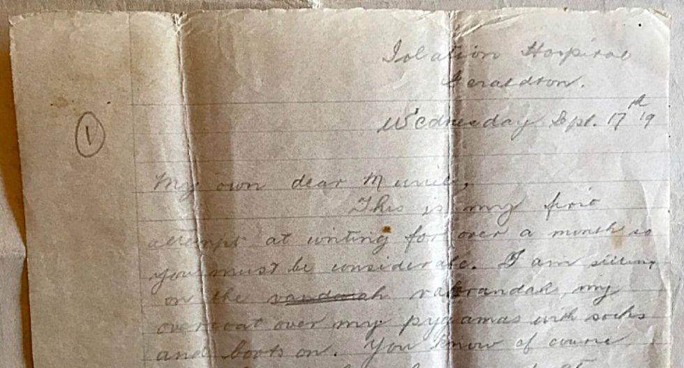 Fiona Pepper es una periodista australiana que compartió a través de sus redes sociales un mensaje escrito hace 100 años por su bisabuelo, un profesor que falleció durante la pandemia de la gripe española. (Foto: Twitter/Fiona Pepper)