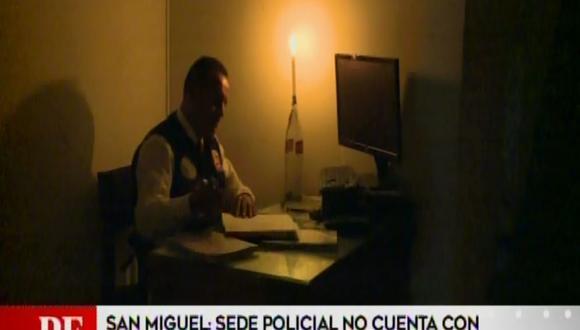 Sede del Departamento de Investigación Criminal (Depincri) de San Miguel no cuenta con los servicios de agua potable y electricidad desde hace cinco días. (Captura: América Noticias)