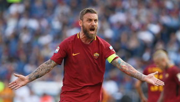 Mediocampista: Daniele de Rossi - AS Roma - 35 años. (Foto: AFP)