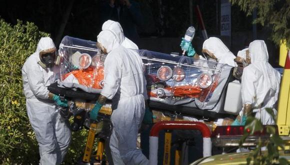Miguel Pajares durante su traslado al Hospital Carlos III en Madrid.(Reuters)