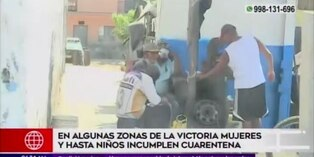Coronavirus en Perú: En la Victoria vecinos salen a las calles pese a restricción