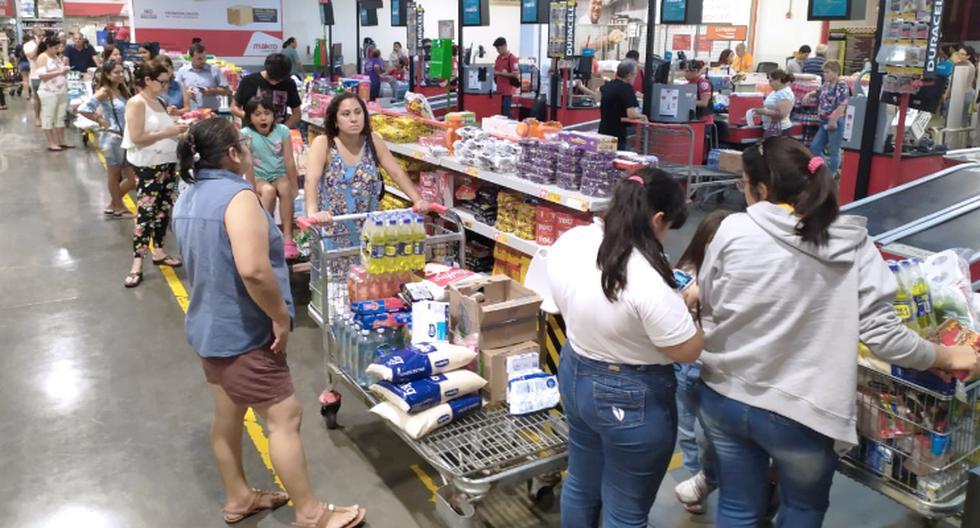 Compras excesivas se registran en Lima ante pánico por el coronavirus (Foto: GEC)