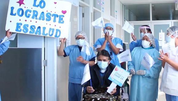 Tras permanecer más de 120 días hospitalizado, un hombre de 56 años logró vencer al COVID-19   Foto: Essalud