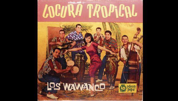 Los Wawancó en su álbum Locura tropical.  Un grupo mítico de la movida rioplatense, en el participó el peruano Carlos Cabrera. [Foto: Sello odeón]