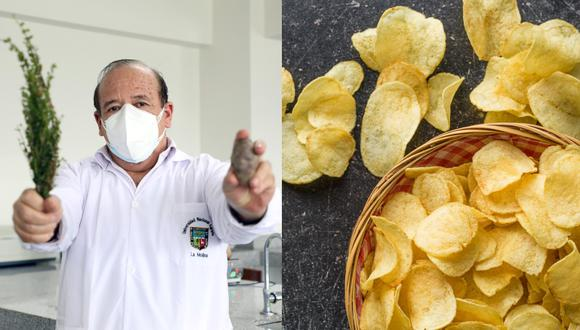 """La acrilamida es """"un contaminante que se forma al freír, asar u hornear alimentos a altas temperaturas"""". Está presente en alimentos como las hojuelas de papas. Un equipo de investigadores ha desarrollado un producto que reduce la aparición de este químico relacionado con el cáncer. (Fotos: UNALM / Referencial - Shutterstock)"""