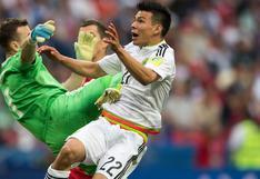 Copa Confederaciones: mexicano Lozano enseñó cómo quedó su pecho tras brutal patada de Akinfeev