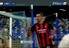 Doblete de Zlatan Ibrahimovic para poner el 2-0 en el Milan-Napoli en Serie A | VIDEO