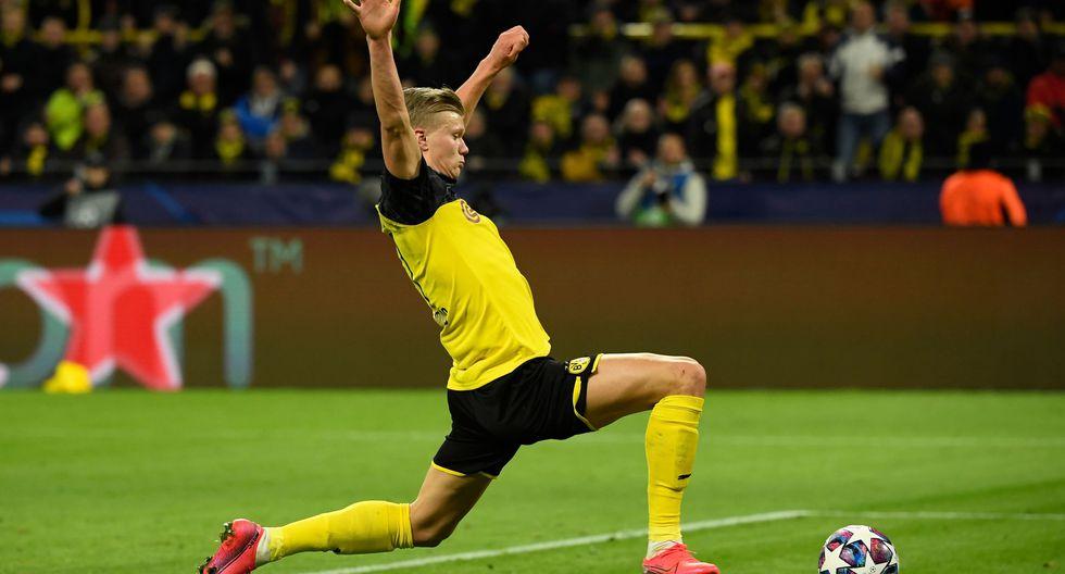 Haaland y el oficio de convertir goles. (Foto: AFP)