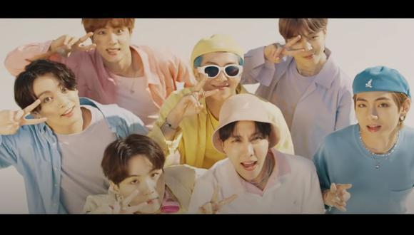 """BTS presentó el último viernes """"Dynamite"""", su nuevo sencillo completamente en inglés y cargado de optimismo. (Foto: Captura de video)"""