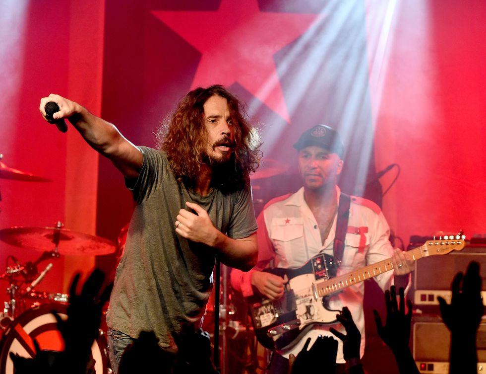 Chris Cornell de Soundgarden durante un concierto en enero del 2017. (Foto: AFP)
