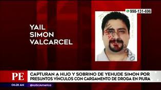 Piura: capturan al hijo de Yehude Simon por presuntos nexos con cargamento de droga