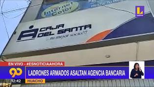 Huacho: Delincuentes roban más de 15 mil soles de agencia bancaria