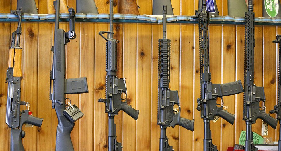 OREM, UT - FEBRUARY 15: Semi-automatic AR-15's are for sale at Good Guys Guns & Range on February 15, 2018 in Orem, Utah. An AR-15 was used in the Marjory Stoneman Douglas High School shooting in Parkland, Florida.   George Frey/Getty Images/AFP