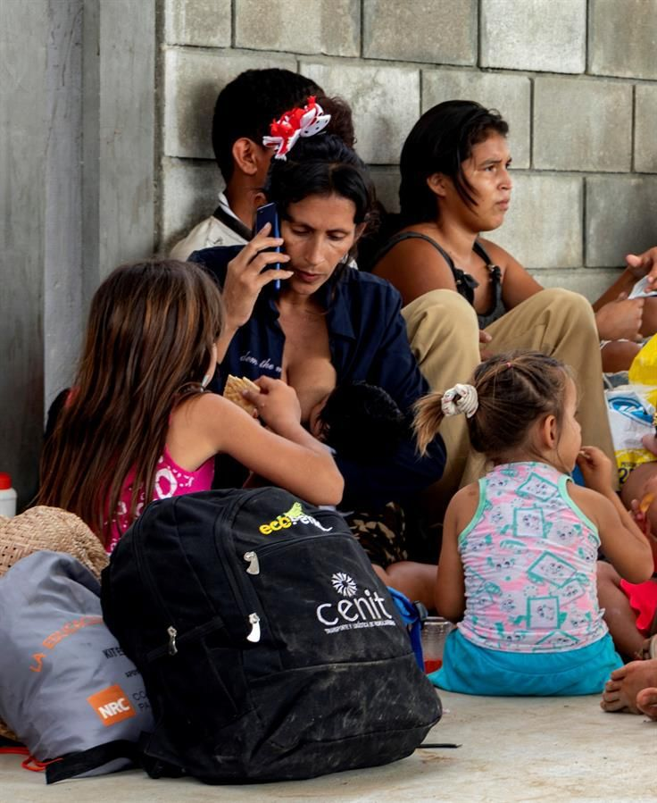 More than 3,000 Venezuelans have fled to Colombia in recent days. (EFE / Jebrail Mosquera Contreras).