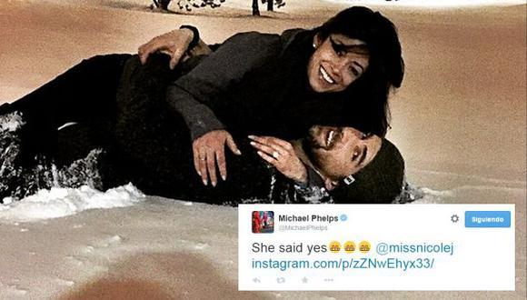 Twitter: Michael Phelps anuncia boda con ex Miss California
