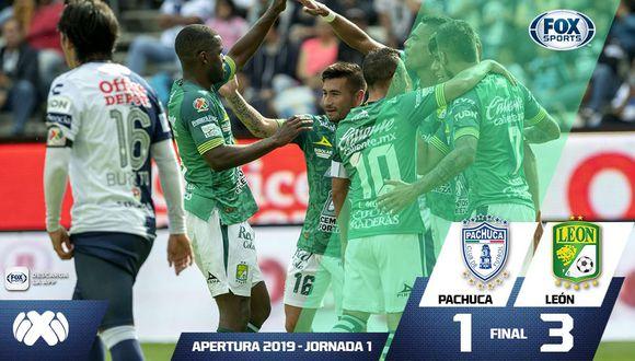 Con anotaciones de Sosa, Macias y Ramos, 'La Fiera' alcanzó una importante victoria de visita por la fecha 1 del Apertura 2019 desde el estadio Hidalgo. (Foto: FOX Sports)