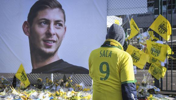 Emiliano Sala murió el 21 de enero en un accidente de avioneta en el Canal de la Mancha, unos días después de haber sido traspasado por el Nantes francés al Cardiff galés. (AFP).